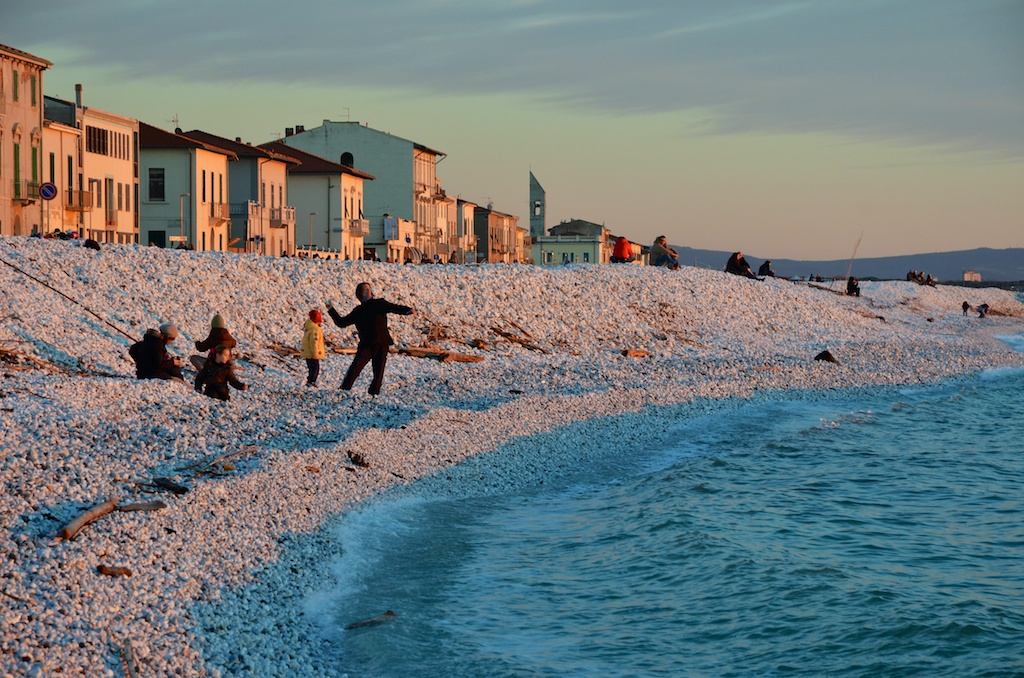 Vacation in Pisa in 2017. Sea